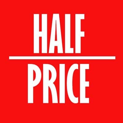 half price ecommerce website design